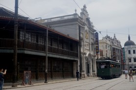 "Le tram dans ""Nanjing Lu"""