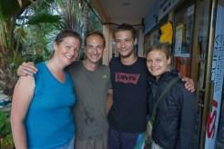 Avec Coline et Jonathan, avant la première plongée