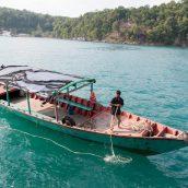 Stranded fisherman