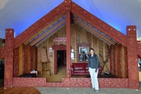 Une Wharenui, maison commune - A wharenui, a communal house