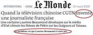 """Ouïghours : catastrophe éditoriale pour """"Le Monde"""" et les experts pacsés avec l'OTAN. — Jacques-Marie BOURGET"""