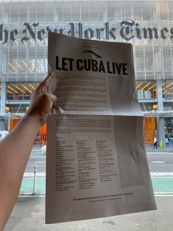 Laissez vivre Cuba ! (Lettre ouverte au Président Biden) -- The People's Forum