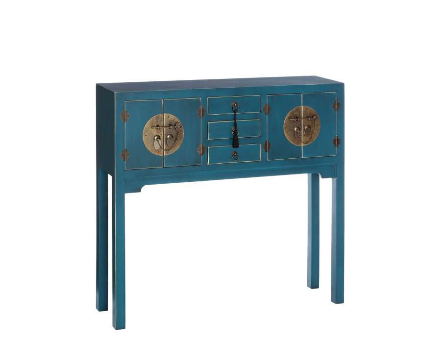 Console Chinoise Bleue Meuble Chinois Pas Cher
