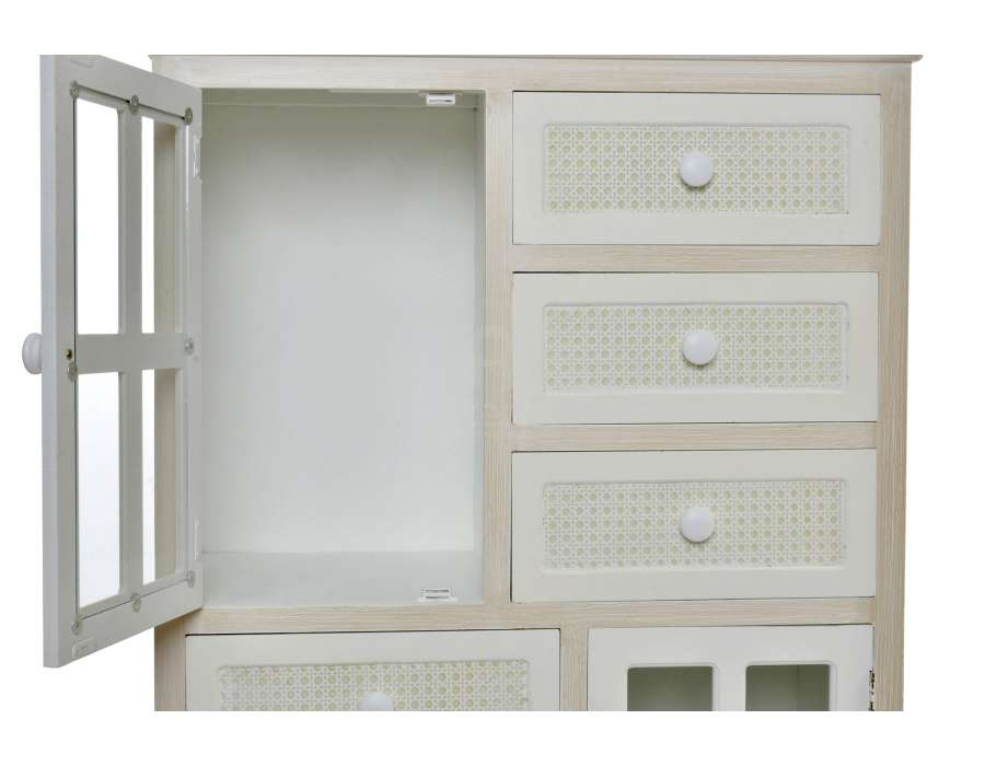 meuble d entree ceruse blanchi tiroirs tresses
