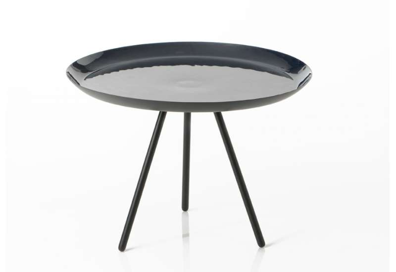 table basse laquee bleue