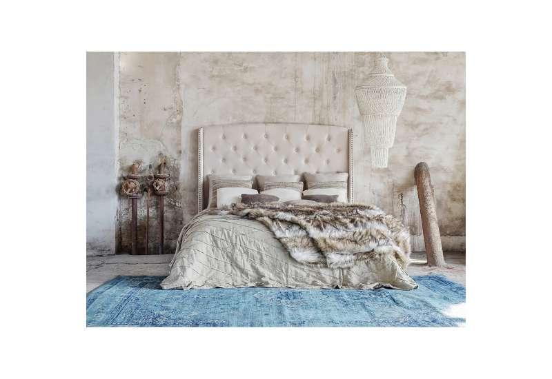 tete de lit beige 2 personnes vical home