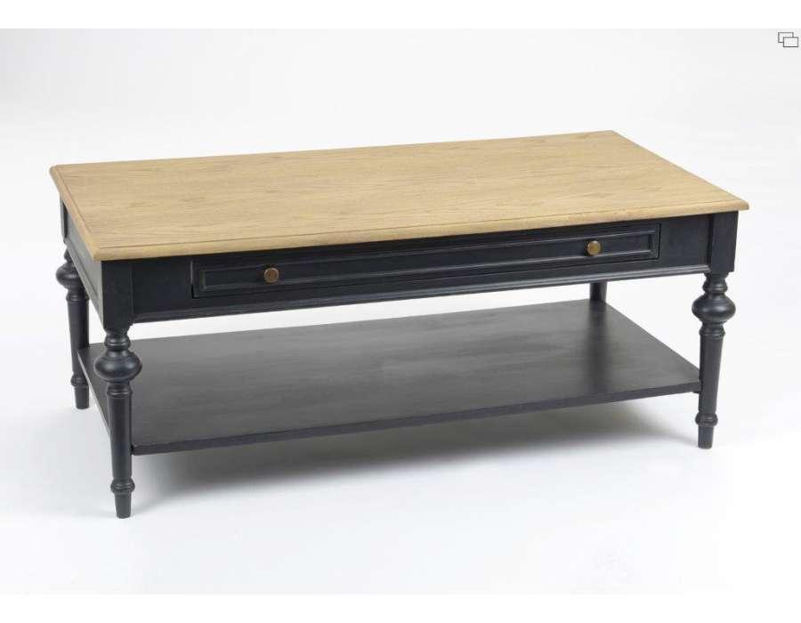 table salon bois noir cerusee amadeus