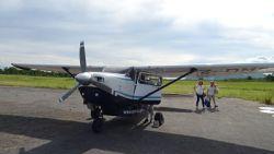 Cessna u206 - Pici repcsi, Afrika, Kariba tó