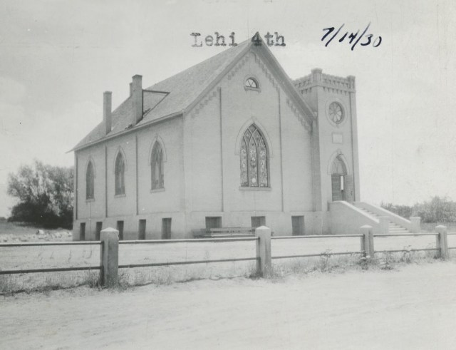 The Lehi 4th Ward Building in 1930. Photo courtesy of the Lehi Historical Society