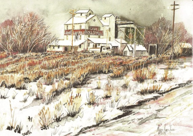 """Lehi Roller Mills"" by Mary Ann Judd Johnson."