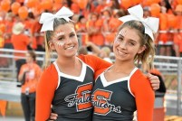 Skyridge cheerleaders showcasing their falcon pride. Taken by Matt Paepke.