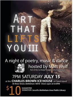 poetry, music, dance, BAPL, IceHouse Tonight, Matt Wolf, Cleveland Wall, Leticia Gutievas, lehigh valley poetry, elynn alexander, lynn alexander