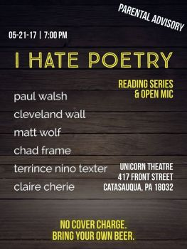 I Hate Poetry, May 2017