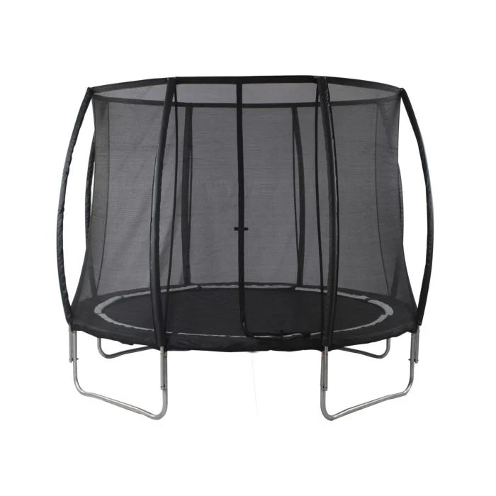 trampoline suisse pas cher noir sur 4 pieds stables