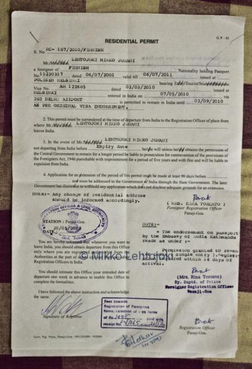 intiaan rekisteröinti