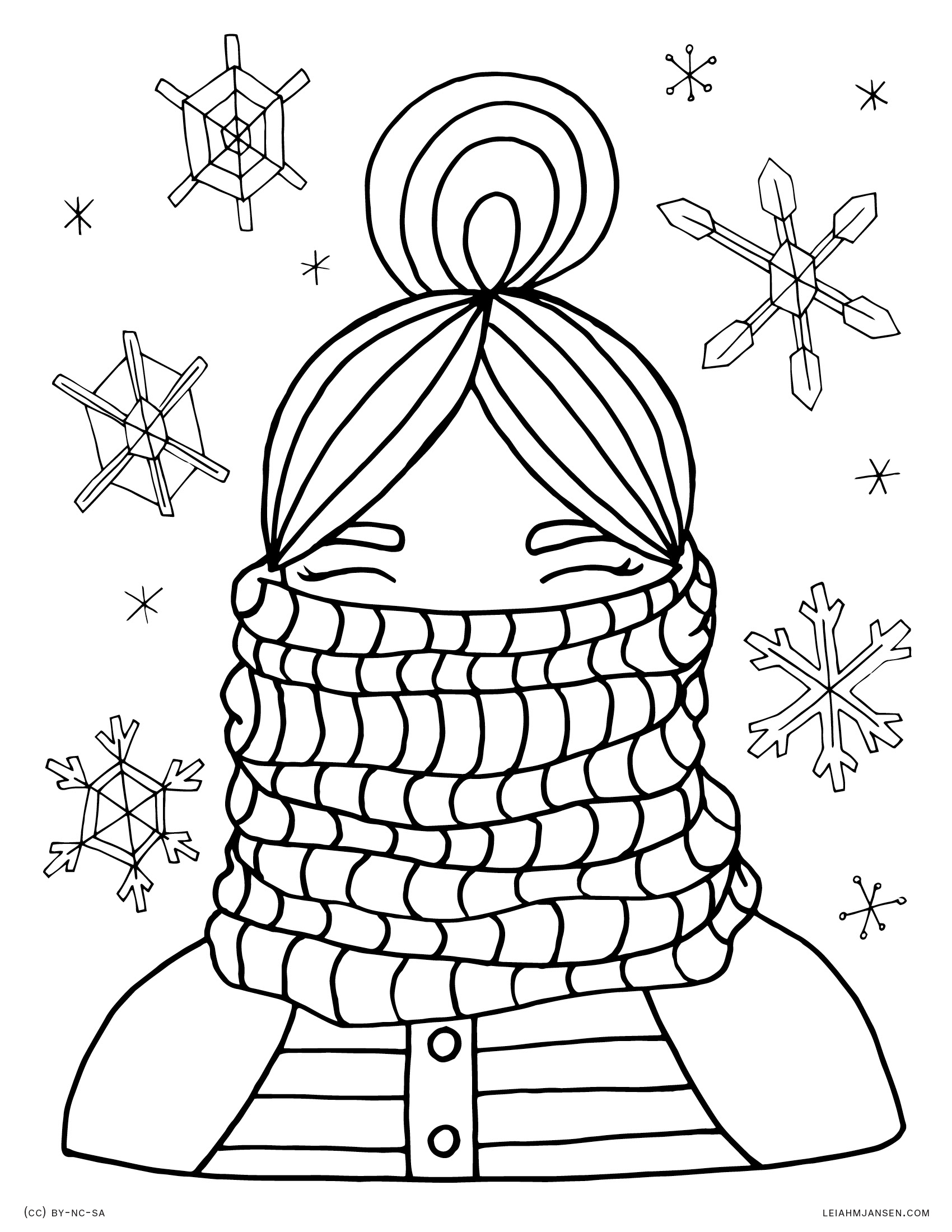 Coloring Pages   winter coloring pages adults