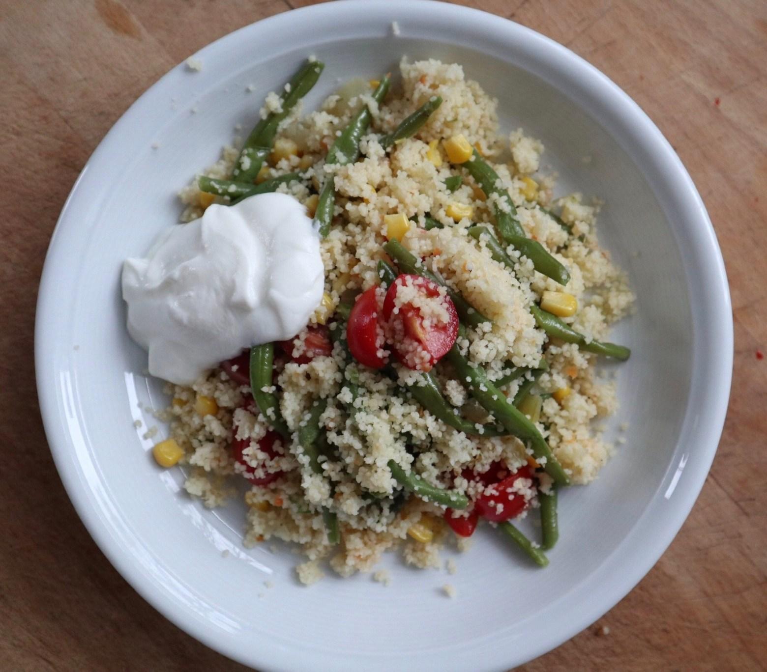 Couscous mit grünen Bohnen****