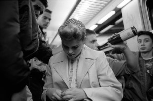 Ducky Boys and the wife of the boss in the Paris subway, 1990