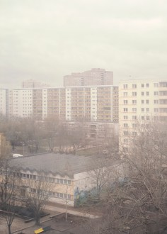 View from Jimmy Tan's window at the student living quarters on Storkower Straße
