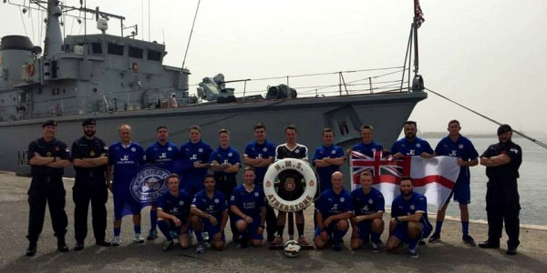 LEST WE FORGET – HMS Atherstone Is Blue for The Day