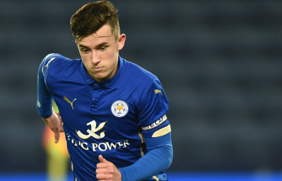 during the FA Youth Cup semi-final, second leg between Leicester City and Manchester City at The King Power Stadium on April 8, 2015 in Leicester, England.