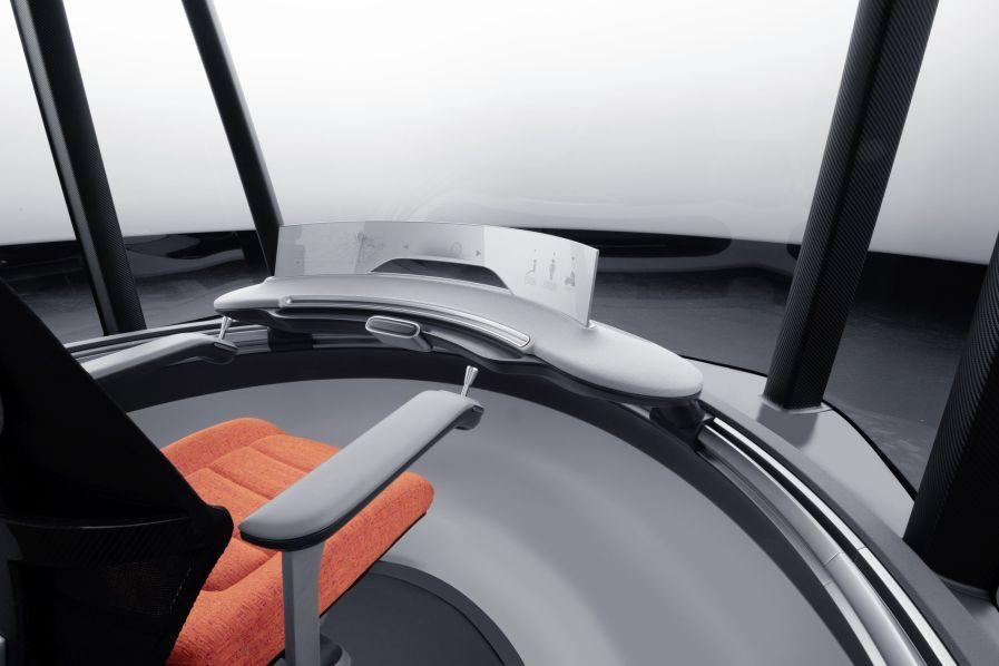 """Wird der """"Uccon"""" komplett autonom betrieben, können an Stelle des Fahrers Passagiere vorne im Fahrzeug Platz nehmen. (Quelle: Teamobility)"""