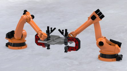 """Mobiles Spritzgießen als """"Ende"""" eines Roboterarms (Quelle: ILK)"""
