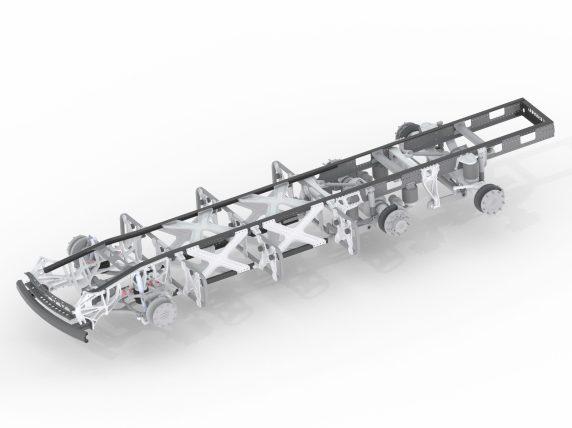 Leichtbau-Chassis Rahmen (Quelle: Leichtbau BW / EDAG Engineering)