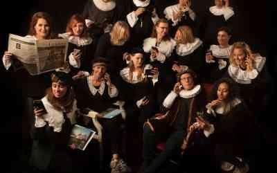 Fotoshoot met licht in de stijl van Rembrandt