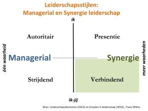 Leiderschapsstijlen, leiderschapsdomeinen, synergie, verbindend