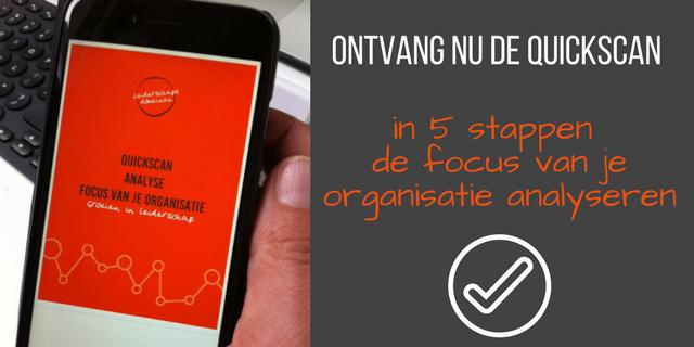 Promo quickscan Analyse focus van je organisatie