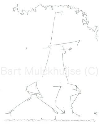 Tekening van molen d'Heesterboom