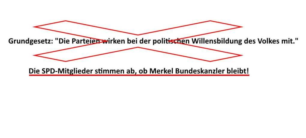 Laut Grundgesetz wird Bundesregierung vom Bundestag gewählt, nicht von SPD-Mitgliedern