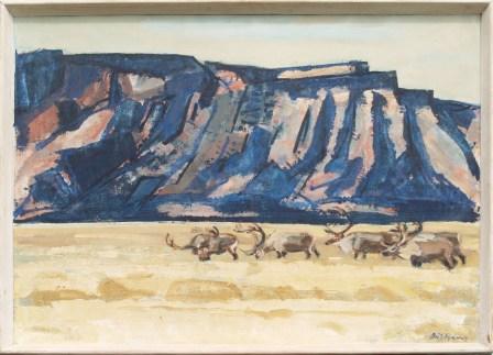 Rensdyr, Maligiaq, 25x34 cm