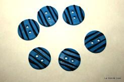 Bottoni a righe neri e blu