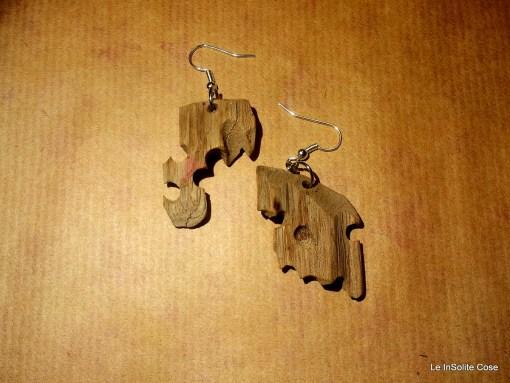 """Orecchini in legno """"Dal Mare"""" – 2014"""