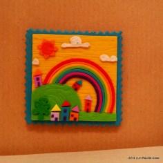 Cartoline dal Mio Mondo - Calamite Paesaggetti con Arcobaleno - Handmade with Fimo, without stamps - Le InSolite Cose 2014 (9)