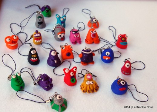 Cute Little Monsters - Party Favor for Monster themed Party - Handmade with Fimo - www.leinsolitecose.com (4)