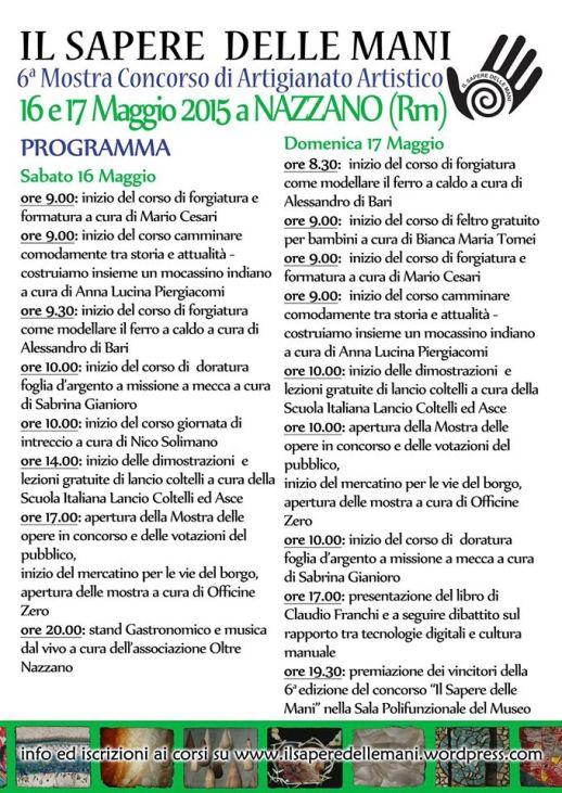 programma evento il sapere delle mani 2015