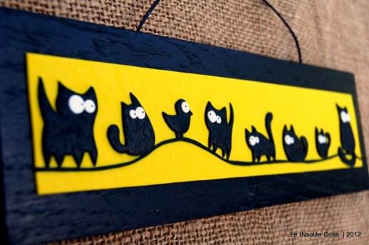 Tavoletta Gatti con uccellino - LE INSolite Cose (1)