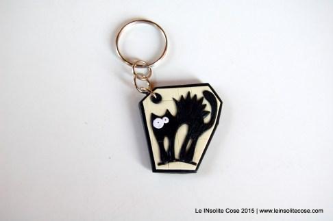 Portachiavi con gatti neri stilizzati - Le INsolite Cose - www.leinsolitecose.com - 2015 (3)