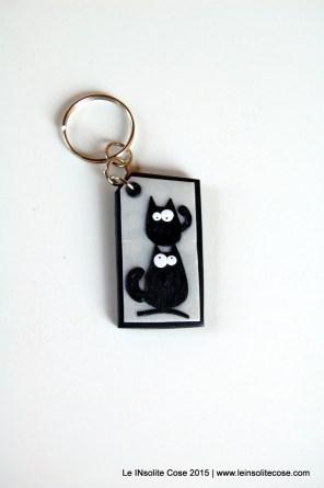 Portachiavi con gatti neri stilizzati - Le INsolite Cose - www.leinsolitecose.com - 2015 (5)