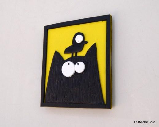 Calamite Gatto nero con Uccellino in testa- Le INsolite Cose (4)