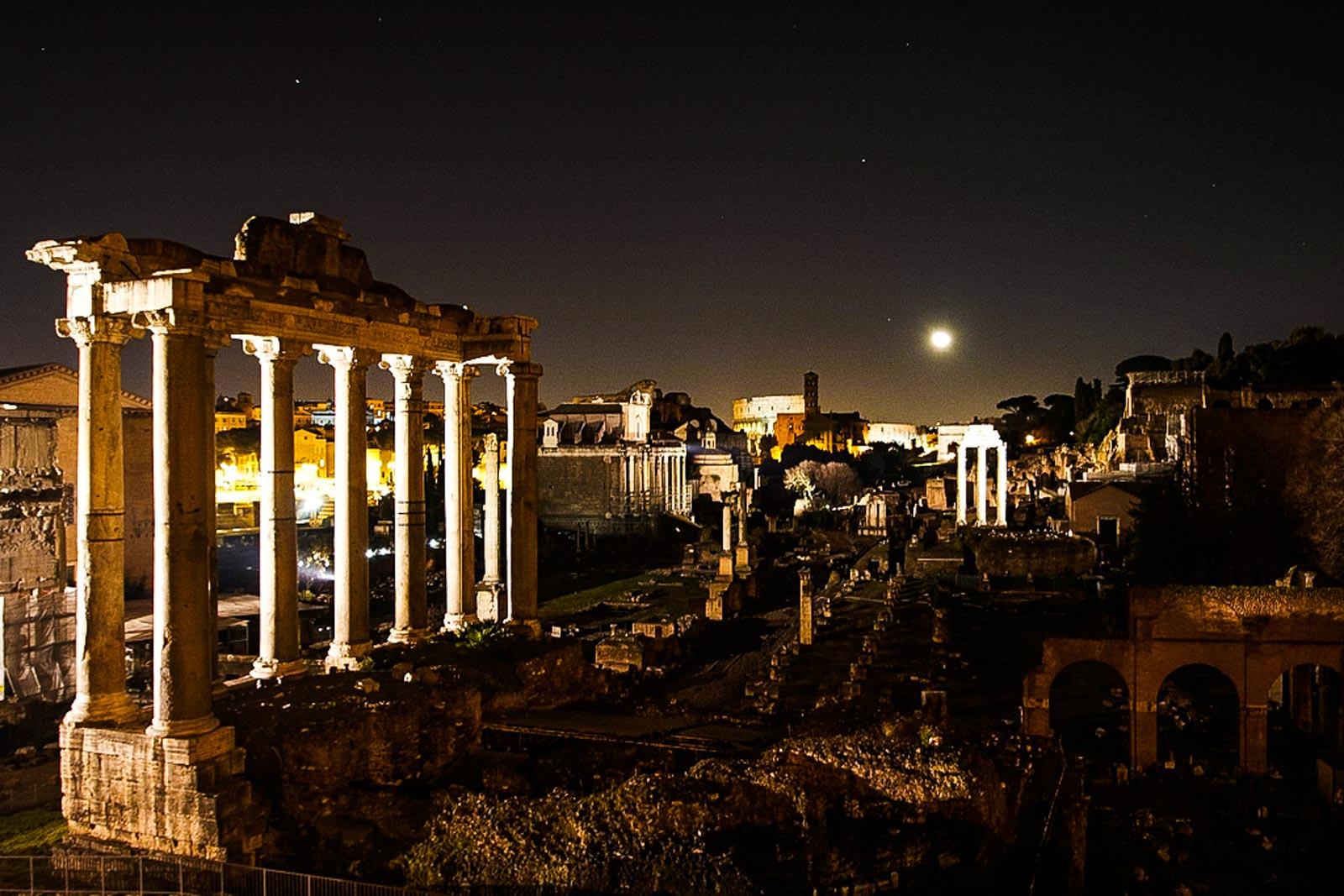Rome Under The Moonlight Extraordinary Night Opening Of