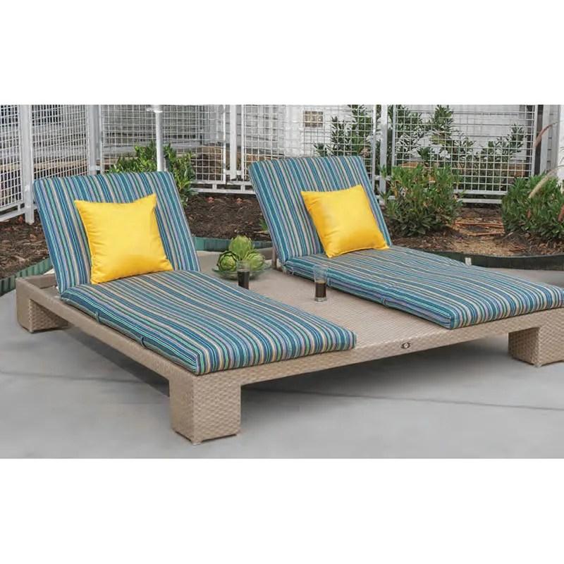 wicker double chaise lounge wicker