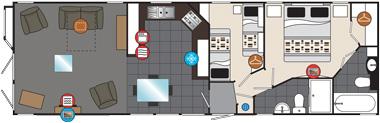 Willerby Meridian floorplan
