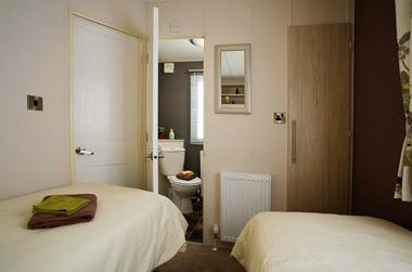 Delta Glade Static Caravan Twin Bedroom