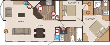 Willerby Key West Holiday Lodge Floor Plan