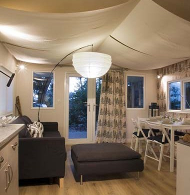 Hay Safari Tent interior living