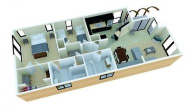 Pathfinder County Retreat 50x22 holiday lodge floor plan